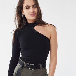 Urban Outfitters One-shoulder Mock neck top